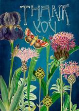 Iris & Thistles Thank You Card.