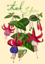 Fuchsia Glitter Thank You Card by Madame Treacle.