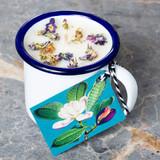 Elderflower & Cedarwood Enamel Cup Candle