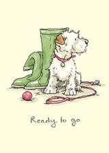 Ready to Go Greetings Card by Anita Jeram.