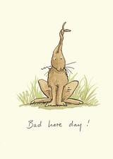 Bad Hare Day Greetings Card by Anita Jeram.