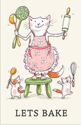 Let's Bake Tea Towel by Anita Jeram.