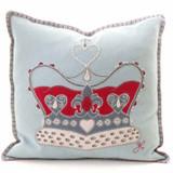 Jan Constantine Wool Crown Cushion - Duck Egg Blue