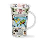 Dunoon fine bone china World of Tea Glencoe shape mug.