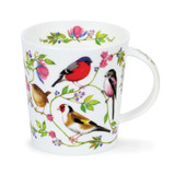 Dunoon Morning Chorus Goldfinch bone china mug.