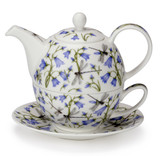 Dunoon Harebell Tea for One Teapot, Cup and Saucer.