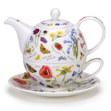Dunoon Wayside Tea for One Teapot, Cup and Saucer.