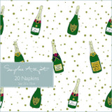 Bubbles & Fizz Paper Napkins from Sophie Allport