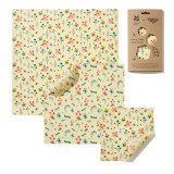 National Trust Summer Bloom Beeswax Wraps - Pack of 3