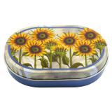 Emma Ball Sunflowers Mini Oval Tin