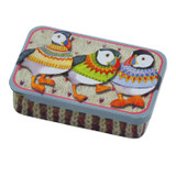 Woolly Puffins Mini Pocket Tin by Emma Ball