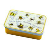 Bees Mini Pocket Tin by Emma Ball