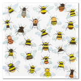 Buzzing Around Greetings Card by Emma Ball.
