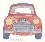 Mini Car Framed Print - Limited edition by British Artist Emma Ball