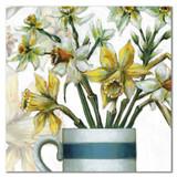 Daffodils Greetings Card by Emma Ball.