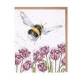 'Flight of the Bumblebee' Greetings Card by Hannah Dale for Wrendale Designs.