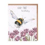 HAP-'BEE' Greetings Card by Hannah Dale for Wrendale Designs.
