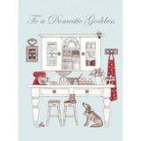 'Baking Day - Domestic Goddess' Birthday Greetings Card by Sally Swannell for Wrendale Designs.