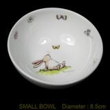 Rabbit and Butterfly china bowl by artist Anita Jeram.