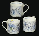 Jack & the Beanstalk Blue mug by artist Anita Jeram