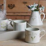 Susie Watson pottery Snowdrop Straight Mug.
