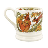 Green Woodpecker and Red Squirrel 1/2 Pint Mug