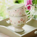 Susie Watson pottery Rose Auricula Large Mug.