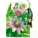 Passion Flower Hanging Fandangle Card by Madame Treacle