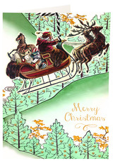 Over the Trees Christmas Hanging Fandangle Card from Madame Treacle