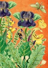 Suki's Garden  Glitter Greetings Card by Madame Treacle.