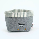 Oyster Catcher Embroidered Small Storage Pot
