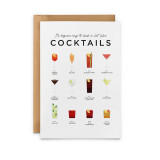 It's beginning to look a lot like Cocktails Card from Everlong Print Co. Made in England