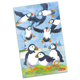 Brightly Colored Puffins 100% Cotton Tea Towel from Emma Ball.