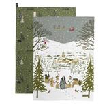 Sophie Allport Set of 2 Festive Forest Tea Towels.