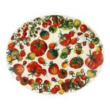 Vegetable Garden Tomatoes Oval platter- Handmade in England.