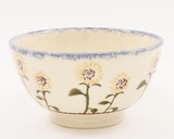 Brixton Pottery Sunflowers handmade small nibbles or dip bowl