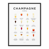 Framed Champagne Cocktails Print from Everlong Print Co. Made in England