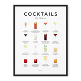 Framed Cocktails Print from Everlong Print Co. Made in England