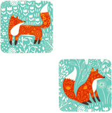 Foraging Fox Set of 4 Coasters from Ulster Weavers.