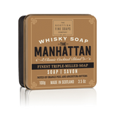 Made in Scotland Whisky Soap in a Tin from The Scottish Soaps Company -  The Manhattan