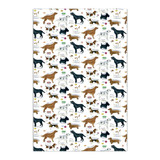 Dog Breeds Cotton Tea Towel by Samuel Lamont.