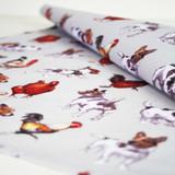 Farmyard Frolics Cotton Tea Towel by Samuel Lamont.