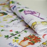 Herb Garden Cotton Tea Towel by Samuel Lamont.