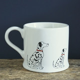 Pottery Dalmatian mug from Sweet William Designs.