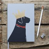 Black Labrador Notebook from Sweet William Designs