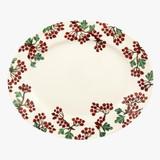 Hawthorn Berries Medium Oval Platter