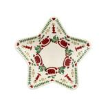 Emma Bridgewater handmade pottery 2021 Christmas Joy Small Star Plate.