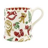 Christmas Celebration 1/2 pint mug handmade by Emma Bridgewater