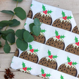 Christmas Pudding Tea Towel from Lucky Lobster Art