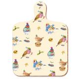 Christmas Birdies mini chopping board from Emma Ball